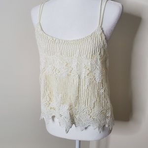 NWT Tilly's crocheted tank top size M